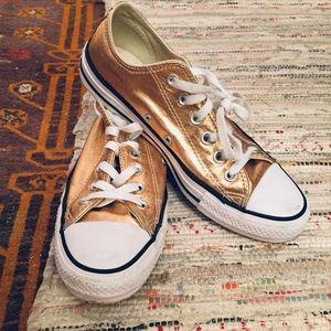 Metallic Converse low-top sneakers